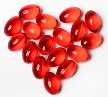Natural Astaxanthin Heart Shaped Gelcaps